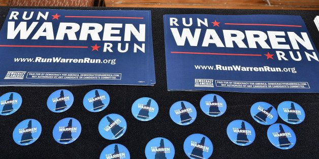 MANCHESTER, NH - JANUARY 17:  General atmosphere at the New Hampshire launch of the 'Run Warren Run' event urging U.S. Senato
