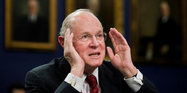 Supreme Court Associate Justices Anthony Kennedy testifies on Capitol Hill in Washington, Monday,  March 23, 2015, before a H