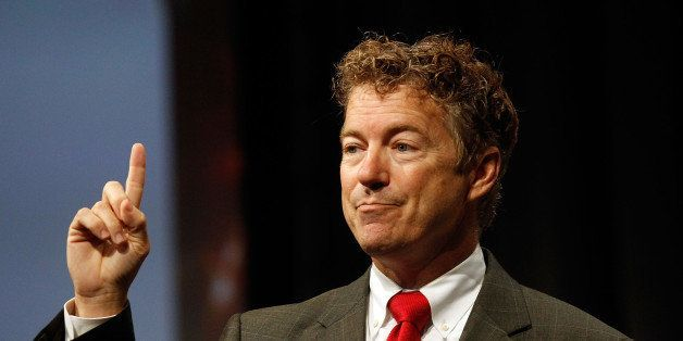 DALLAS, TX - AUGUST 29: U.S. Senator Rand Paul speaks at the Defending the American Dream Summit sponsored by Americans For P