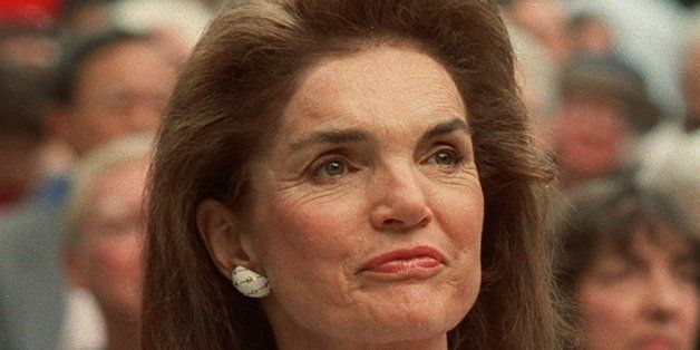 Jacqueline Kennedy Onassis is shown in New York in this 1992 photo from files.  The frenzied four-day auction of Camelot souv