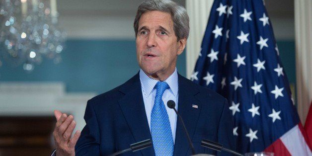 US Secretary of State John Kerry speaks to the press as part of the US-Morocco Strategic Dialogue at the State Department in