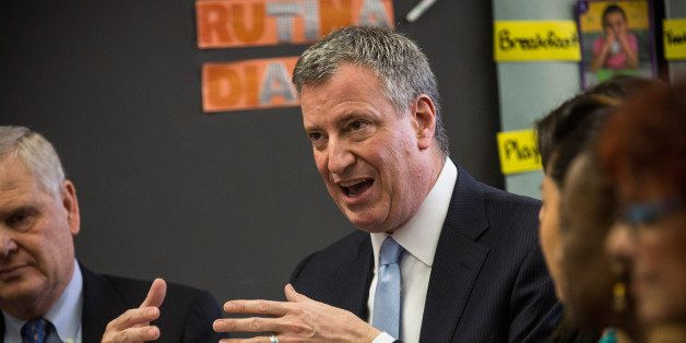 NEW YORK, NY - FEBRUARY 04:  New York City Mayor Bill de Blasio attend a roundtable discussion held by Univision between pare