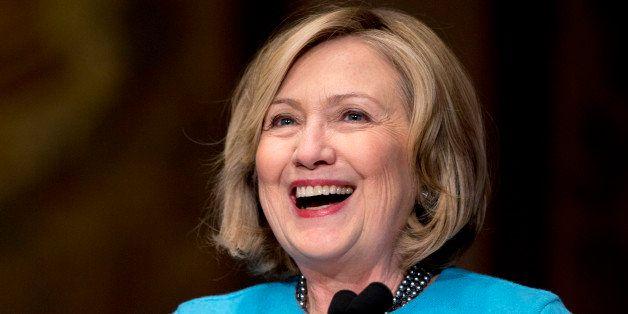 Former Secretary of State Hillary Rodham Clinton speaks in Gaston Hall at Georgetown University in Washington, Wednesday, Dec