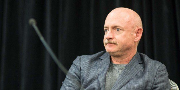 Former astronaut Mark Kelly, husband of former Rep. Gabrielle Giffords who was injured during a shooting in Tucson, Ariz., du