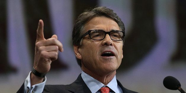 NASHVILLE, TN - APRIL 10:  Former Texas Gov. Rick Perry speaks during the NRA-ILA Leadership Forum at the 2015 NRA Annual Mee