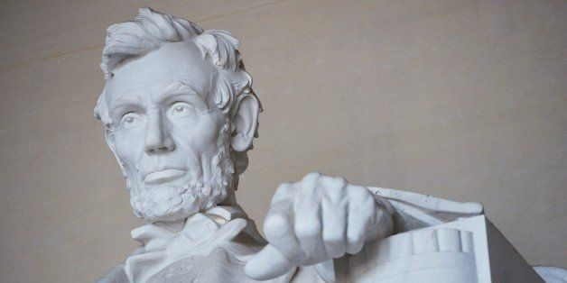 The statue of Abraham Lincoln by artist Daniel Chester French is seen at the Lincoln Memorial on April 1, 2015 in Washington,