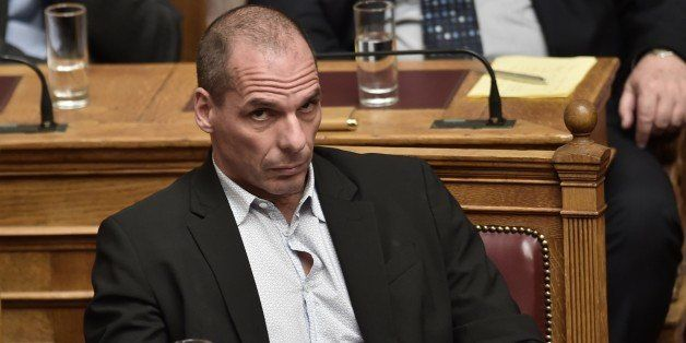 Greek Finance Minister Yanis Varoufakis attends a parliament session in Athens on March 30, 2015. The EU warned Monday that G