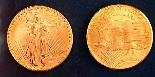 FILE--This is an undated photo of replicas similar to rare gold coins stolen from the Philadelphia Mint in 1933.  Secret Serv