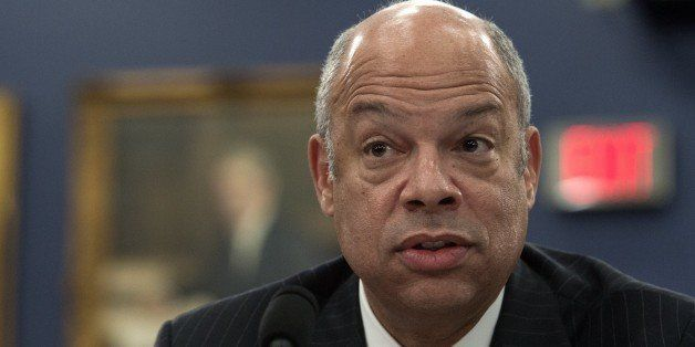 US Homeland Security Secretary Jeh Johnson testifies before a House Appropriations Committee Homeland Security Subcommittee h