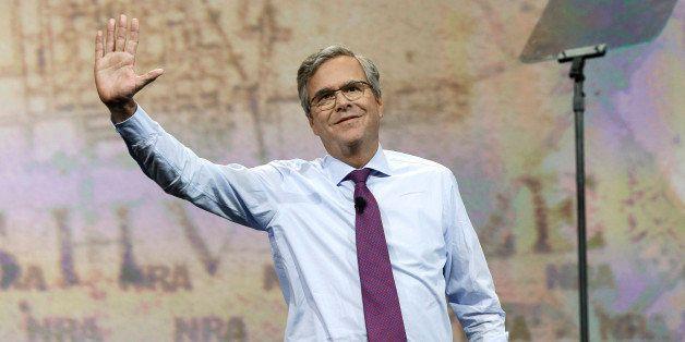 Former Florida Gov. Jeb Bush speaks at the National Rifle Association convention Friday, April 10, 2015, in Nashville, Tenn.