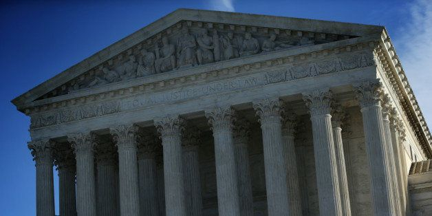WASHINGTON, DC - JANUARY 09:  An exterior view of the U.S. Supreme Court January 9, 2015 in Washington, DC. The justices of t
