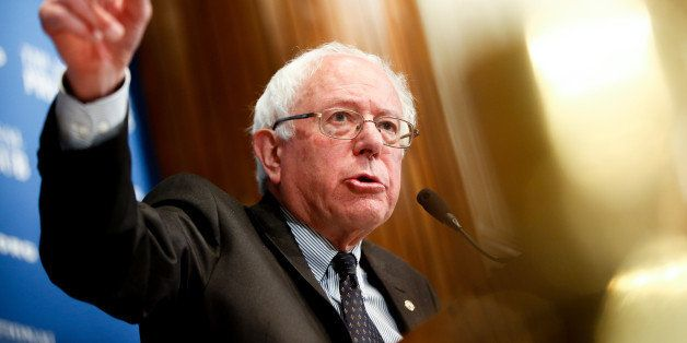 Sen. Bernie Sanders, I-Vt., speaks at a luncheon at the National Press Club on Monday, March 9, 2015 in Washington. Sanders,