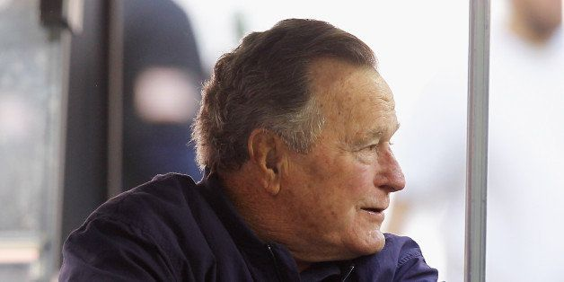 HOUSTON, TX - NOVEMBER 23:  Former President George H.W. Bush attends a game between the Cincinnati Bengals and Houston Texan