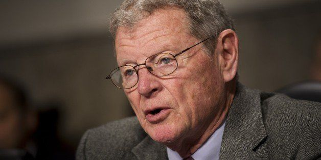 Senator James Inhofe, R-OK, ranking member of the Senate Armed Services Committee, speaks during a hearing on United States N