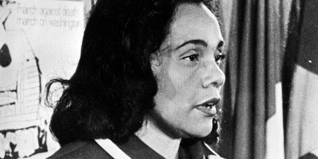 Coretta Scott King, widow of slain civil rights leader Dr. Martin Luther King, Jr., is seen in an undated photo.  (AP Photo)