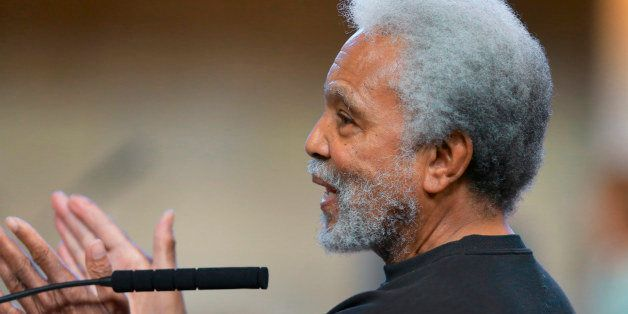 Neb. State Sen. Ernie Chambers of Omaha speaks during debate in the Legislative Chamber in Lincoln, Neb., Monday, March 30, 2