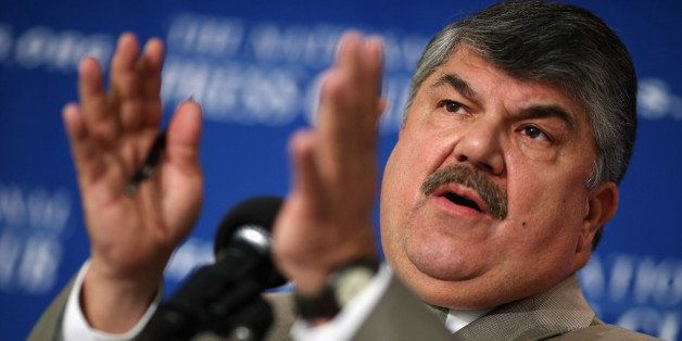 WASHINGTON, DC - JULY 12:  AFL-CIO President Richard Trumka holds a news conference to announce the 'Workers Stand for Americ
