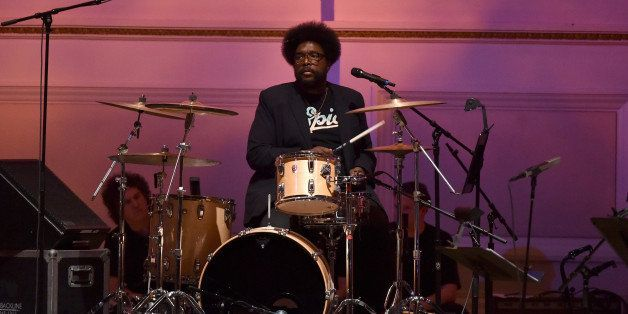 NEW YORK, NY - MARCH 23:  Questlove of The Roots performs onstage during The Music Of David Byrne & Talking Heads at Carnegie