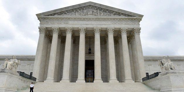This photo taken Friday, Oct. 3, 2014, shows the U.S. Supreme Court in Washington. A Supreme Court term that is starting Mond
