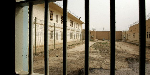 BAGHDAD, IRAQ, FEBRUARY 21:  A view from one of the cells at the newly opened Baghdad Central Prison in Abu Ghraib on Februar
