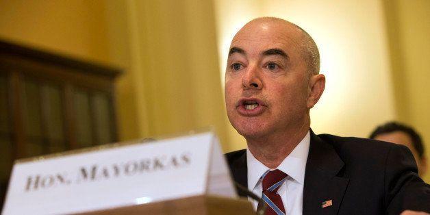 Homeland Security Deputy Secretary Alejandro Mayorkas testifies on Capitol Hill in Washington, Thursday, April 30, 2015, befo