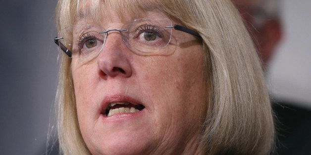 WASHINGTON, DC - MARCH 11: Sen. Patty Murray (D-WA) speaks about ending sequestration during a news conference on Capitol Hill, March 11, 2015 in Washington, DC. Senate Budget Committee Democrats urged Congress to end sequestration to help build back the middle class, invest in job creation and fight for an increase in the minimum wage. (Photo by Mark Wilson/Getty Images)