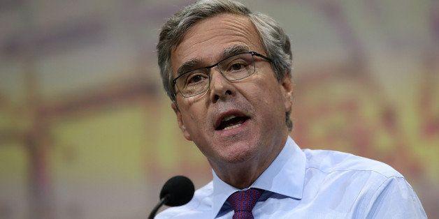 NASHVILLE, TN - APRIL 10:  Former Florida Gov. Jeb Bush speaks during the NRA-ILA Leadership Forum at the 2015 NRA Annual Mee