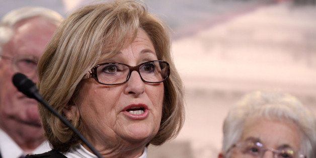 Rep. Diane Black, R-Tenn. speaks to reporters on Capitol Hill in Washington, Tuesday, March 25, 2014, after the Supreme Court