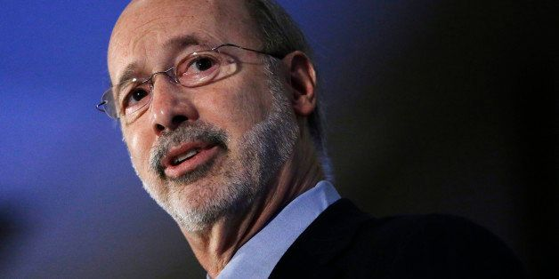 Pennsylvania Gov. Tom Wolf speaks during the Association of Energy Engineers' conference Tuesday, March 17, 2015, in Philadel