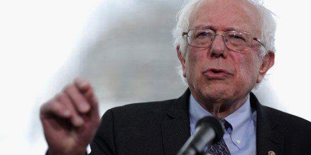 WASHINGTON, DC - APRIL 30:  U.S. Sen. Bernard Sanders (I-VT) speaks on  his agenda for America  during a news conference on C