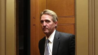 WASHINGTON, DC - JUNE 27:  U.S. Sen. Jeff Flake (R-AZ) stands in an elevator June 27, 2013 at the U.S. Capitol in Washington, DC. The Senate is scheduled to vote on the final passage of the Immigration Reform Bill this afternoon.  (Photo by Alex Wong/Getty Images)