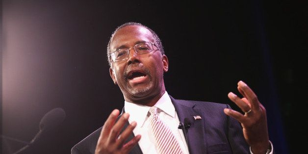 DES MOINES, IA - JANUARY 24:  Dr. Ben Carson speaks to guests  at the Iowa Freedom Summit on January 24, 2015 in Des Moines,