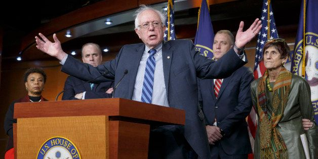 Sen. Bernie Sanders, I-Vt., joins House Democrats in stating their disagreement and disappointment with President Barack Obam