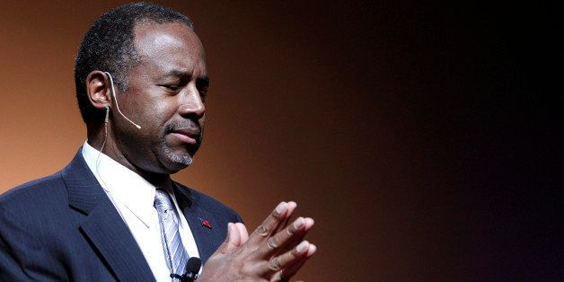 DETROIT, MI - MAY 4:  Republican Dr. Ben Carson, a retired pediatric neurosurgeon, speaks as he officially announces his cand