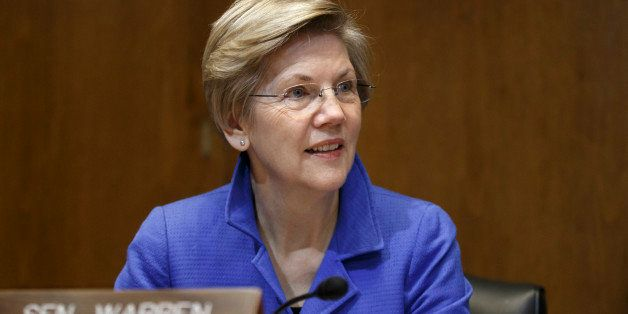 Senate Energy and Natural Resources Committee member Sen. Elizabeth Warren, D-Mass. listens as the committee works on a bill