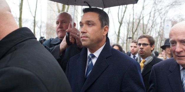 NEW YORK, NY - DECEMBER 23: U.S. Rep. Michael Grimm (R-NY) leaves US District Court on December 23, 2014 in the Brooklyn boro