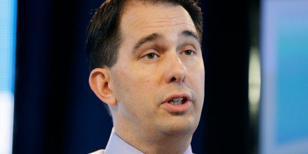 FILE - In this March 7, 2015 file photo, Wisconsin Gov. Scott Walker speaks in Des Moines, Iowa. It's become even clearer t