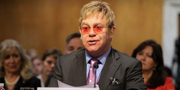 WASHINGTON, DC - MAY 06:  Sir Elton John, Founder, Elton John Aids Foundation, testifies before a U.S. Senate Appropriations