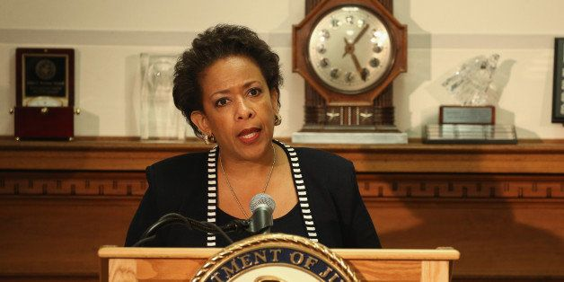WASHINGTON, DC - APRIL 29:  Attorney General Loretta Lynch speaks about the recent violence in Baltimore during a news confer