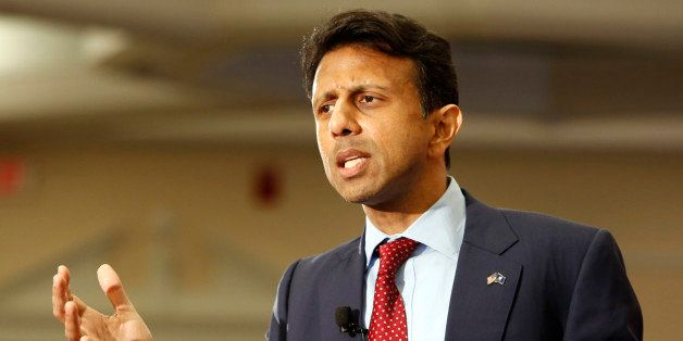 FILE - In this April 18, 2015 file photo, Louisiana Gov. Bobby Jindal, R-La. speaks in Nashua, N.H. Jindal's focus on states