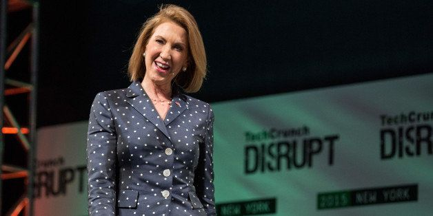 NEW YORK, NY - MAY 05:  Republican presidential hopeful Carly Fiorina speaks at TechCrunchÕs Disrupt conference on May 5, 20