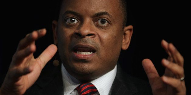 WASHINGTON, DC - JANUARY 23:  U.S. Secretary of Transportation Anthony Foxx speaks during a discussion of the 83rd Winter Mee