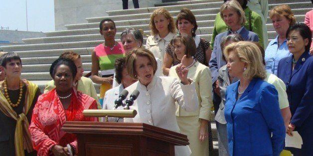 Speaker Nancy Pelosi, Chairwoman Carolyn Maloney, Chairwoman Barbara Lee, Chairwoman Nydia Velazquez, Congresswoman Allyson S