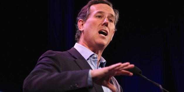 DES MOINES, IA - JANUARY 24:  Former Pennsylvania Senator Rick Santorum speaks to guests  at the Iowa Freedom Summit on Janua