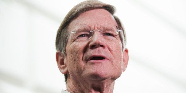 UNITED STATES - MARCH 20:  Rep. Lamar Smith, R-Texas, conducts a news conference where he and republican leaders discussed th