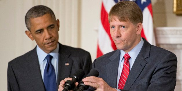 WASHINGTON, DC - JULY 17:  (AFP OUT) Richard Cordray, Director of the Consumer Financial Protection Bureau, makes remarks aft