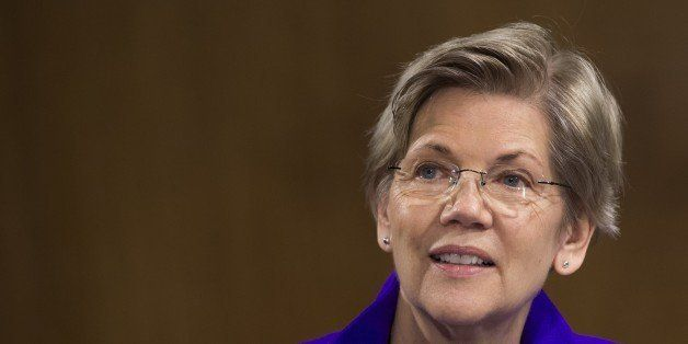 US Senator Elizabeth Warren, Democrat of Massachussetts, attends a US Senate Banking, Housing and Urban Affairs Committee hea