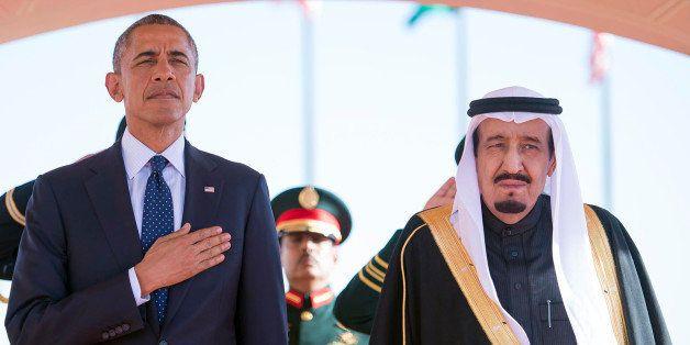 In this Tuesday, Jan. 27, 2015 photo provided by the Saudi Press Agency, President Barack Obama and Saudi Arabian King Salman