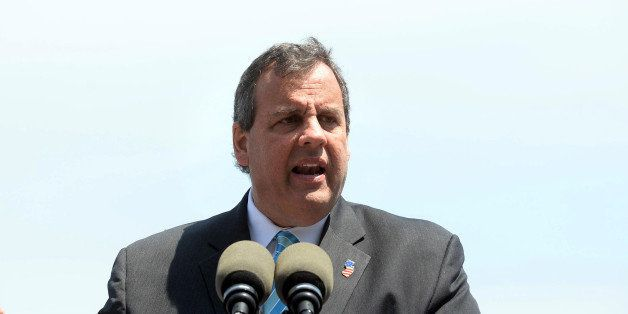 PORTSMOUTH, NH - MAY 18:  New Jersey Gov. Chris Christie gives a speech on foreign policy at Prescott Park May 18, 2015 in Po