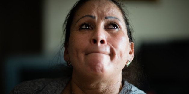 MANASSAS, VA - FEBRUARY 28: Salvadoran immigrant, Adelia Aguilar, 54, might be eligible for a  green card as a result of Pres